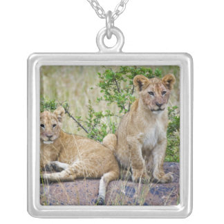 Collier Paires de petits animaux de lion sur la roche,