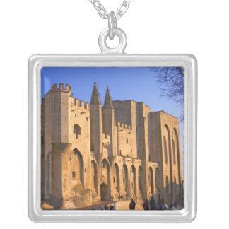 Collier Palace du pape à Avignon avec des personnes