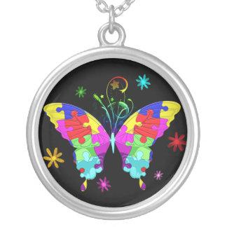 Collier Papillon d'autisme