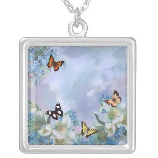 Collier Papillons et bleus