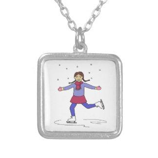Collier Patineur artistique de fille de patinage de glace