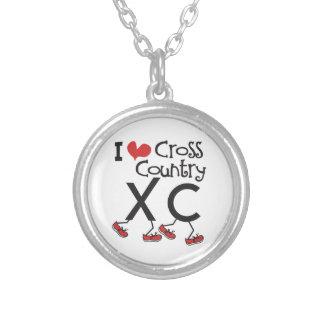 Collier Pays croisé du coeur I (amour) courant XC