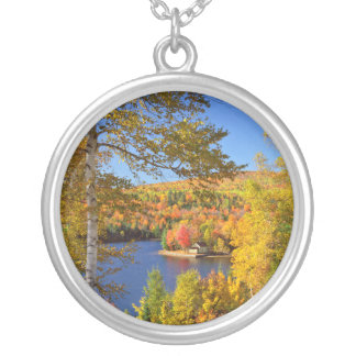 Collier Paysage d'arbre d'automne, Maine