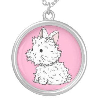 Collier pelucheux de lapin - couleur de votre