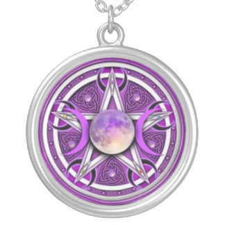 Collier Pentagramme de lune