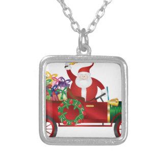 Collier Père Noël ; Claus ; cru ; vieux ; voiture ; moteur