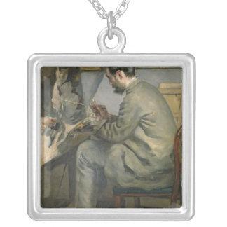 Collier Pierre un Renoir | Frederic Bazille à son chevalet