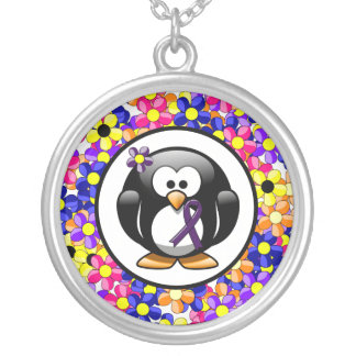 Collier Pingouin pourpre de ruban
