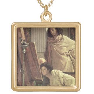 Collier Plaqué Or Alma-Tadema | une visite au studio, 1873