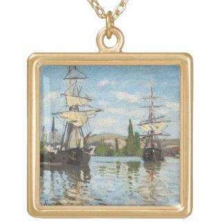 Collier Plaqué Or Bateaux de Claude Monet | montant sur la Seine à