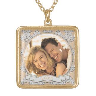 Collier Plaqué Or Carré personnalisable Necklace_Medium d'amour