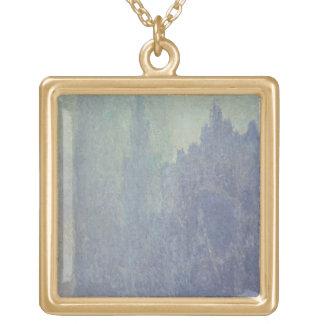 Collier Plaqué Or Cathédrale de Claude Monet | Rouen, temps brumeux