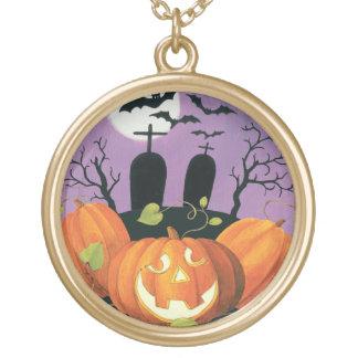 Collier Plaqué Or Chambre hantée par Halloween éffrayante