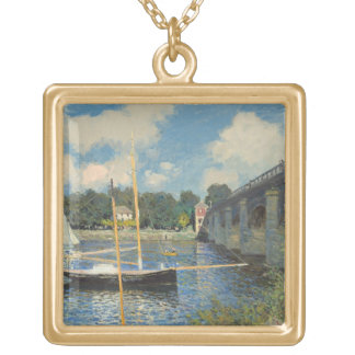 Collier Plaqué Or Claude Monet | le pont à Argenteuil