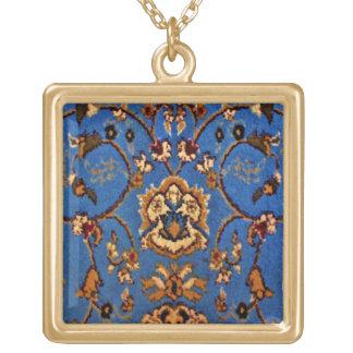 Collier Plaqué Or Couverture orientale bleue