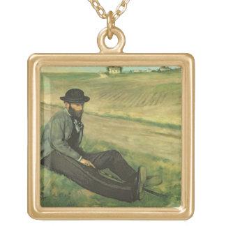 Collier Plaqué Or Edgar Degas   Eugene Manet