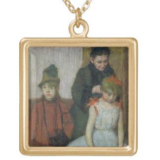 Collier Plaqué Or Femme d'Edgar Degas | avec deux petites filles