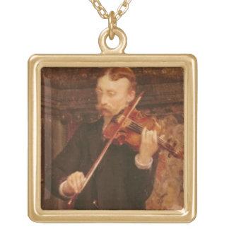 Collier Plaqué Or Fils d'Alma-Tadema | Maurice jouant le violon