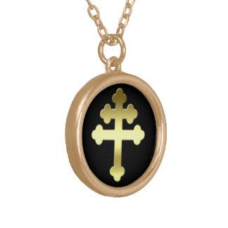 Collier Plaqué Or La croix de Michelle de la Française Croix de
