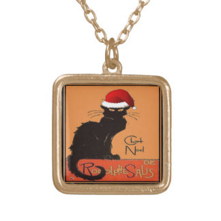 Collier Plaqué Or Le Chat Noel
