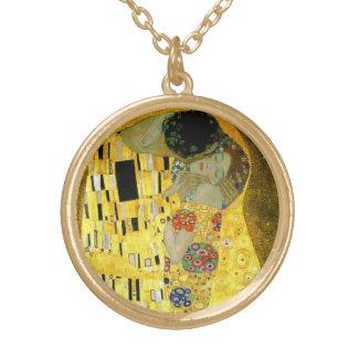Collier Plaqué Or Le ~ Gustav Klimt de baiser