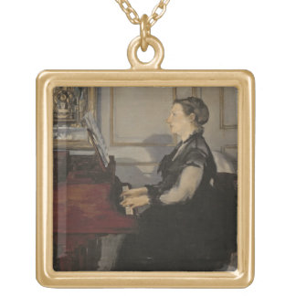 Collier Plaqué Or Madame Manet au piano, 1868 de Manet |