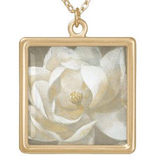 Collier Plaqué Or Magnolia majestueuse