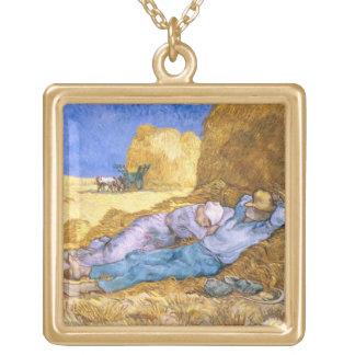 Collier Plaqué Or Midi de Vincent van Gogh |, la sièste, après