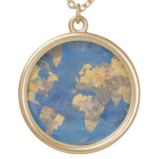 Collier Plaqué Or Monde d'or