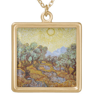 Collier Plaqué Or Oliviers de Vincent van Gogh |, 1889