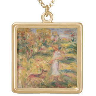Collier Plaqué Or Pierre un paysage de Renoir | avec l'épouse de