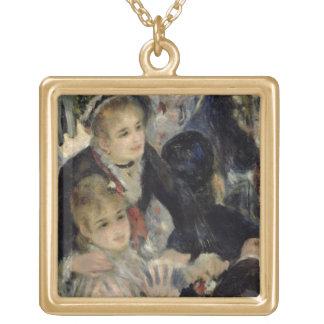 Collier Plaqué Or Pierre une boule de Renoir | chez Moulin de la