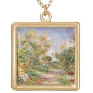 Collier Plaqué Or Pierre une femme de Renoir | dans un paysage