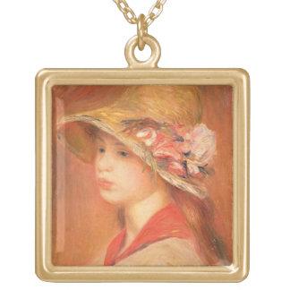 Collier Plaqué Or Pierre une jeune femme de Renoir | dans un
