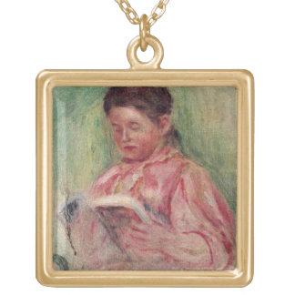 Collier Plaqué Or Pierre une lecture de femme de Renoir |