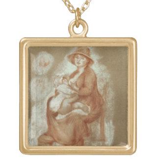 Collier Plaqué Or Pierre une maternité de Renoir |