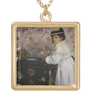 Collier Plaqué Or Portrait d'Edgar Degas | de Mlle. Hortense