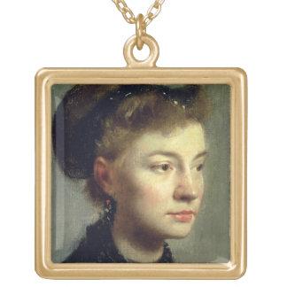 Collier Plaqué Or Portrait d'Edgar Degas | d'une jeune femme, 1867
