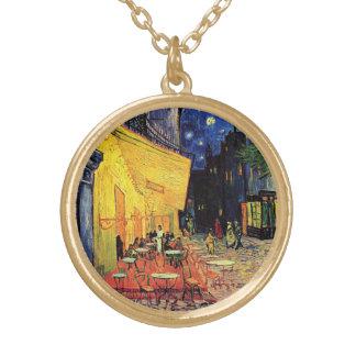 Collier Plaqué Or Terrasse de café de Van Gogh sur Place du Forum,