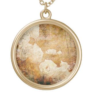 Collier Plaqué Or texture vintage florale grunge d'arrière - plan d'