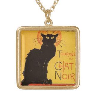 Collier Plaqué Or Tournée du Chat Noir, cru de chat noir de Steinlen