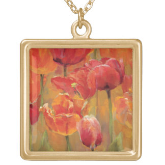 Collier Plaqué Or Tulipes au milieu