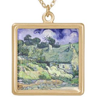 Collier Plaqué Or Vincent van Gogh | a couvert des cottages de