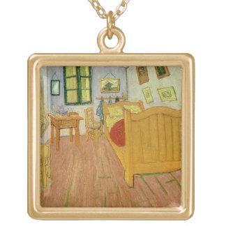 Collier Plaqué Or Vincent van Gogh | la chambre à coucher, 1888