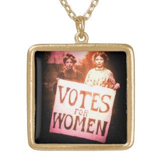 Collier Plaqué Or Votes pour des femmes