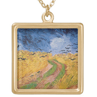 Collier Plaqué Or Wheatfield de Vincent van Gogh | avec des