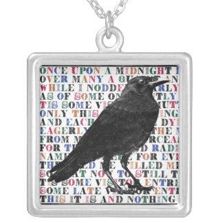 Collier Poème Edgar Allan Poe de Raven