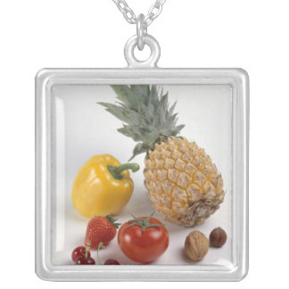 Collier Poivron doux jaune, tomate, ananas,