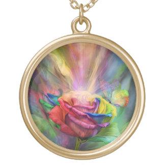 Collier portable d'art de rose de guérison