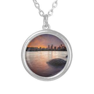 Collier Portland OU horizon le long de coucher du soleil